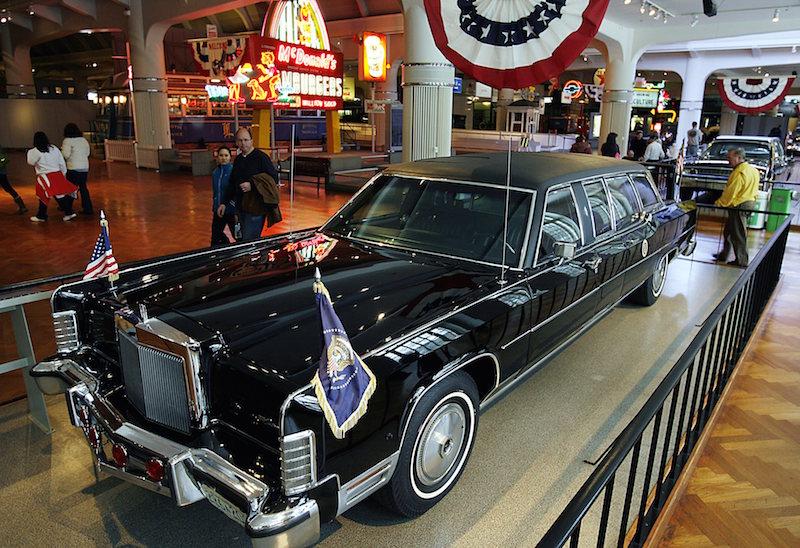 1973 Lincoln Continental: Nixon, Ford és Reagan elnök autója