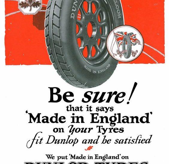 Egy korai Dunlop hirdetés
